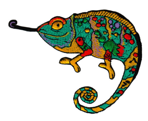Ac98 camaleón el lagarto reptil iguana Patch perchas imagen Patch 10,3 x 7,7 cm