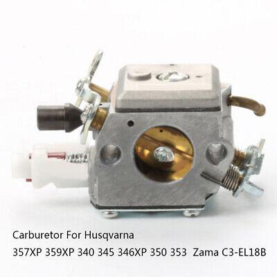 Carb Carburetor C3-El18B Fits Husqvarna 340 345 346Xp 350 353 357Xp 359Xp Zama