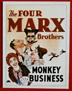 MARX BROTHERS - Card #04 - MONKEY BUSINESS - from Movie Idols Set