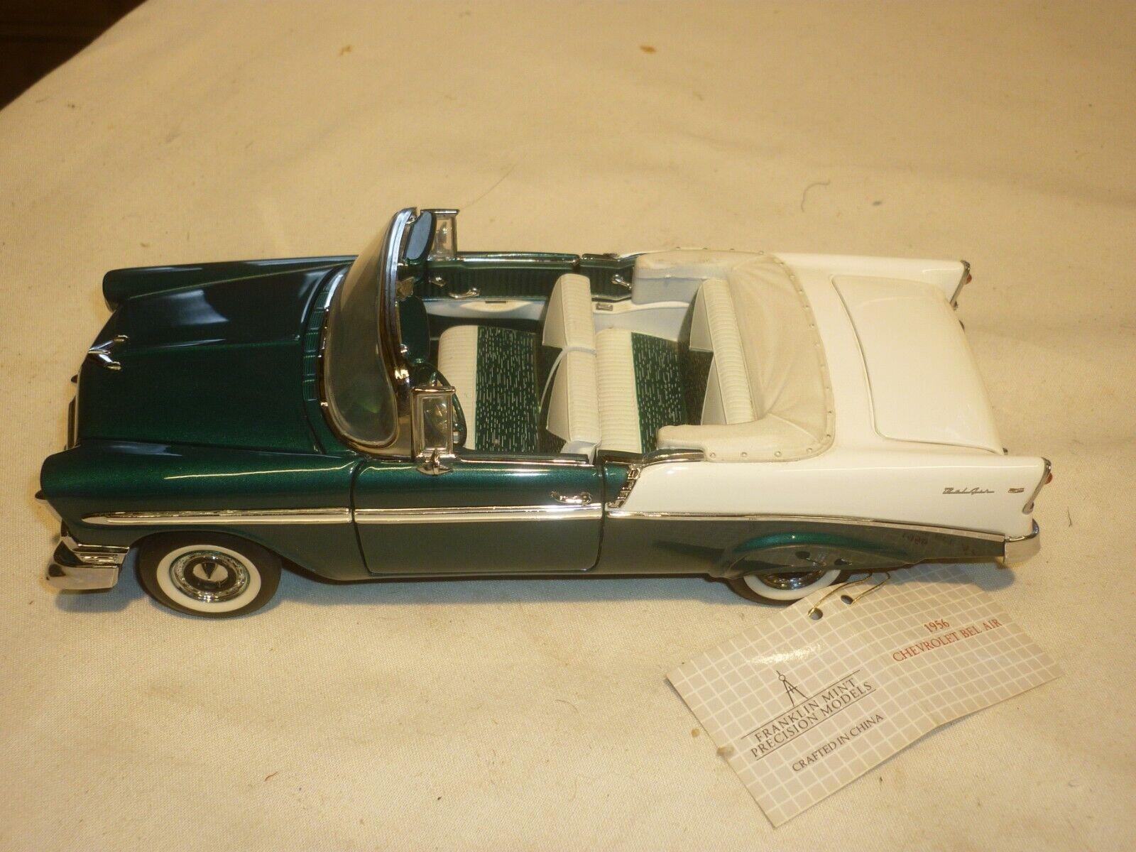 Un Franklin Comme neuf échelle voiture modèle de 1956 CHEVROLET BEL AIR CONVERTIBLE