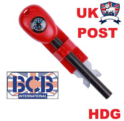 Bushcraft BCB Fireball Flint and Striker Red Midi
