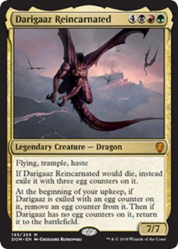 NM 4x Darigaaz Reincarnated x4 English Dominaria Mythic Rare MTG DOM
