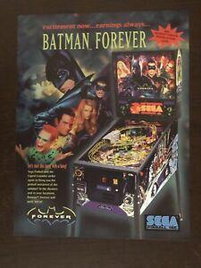 Batman Forever Pinball Machine Flyer
