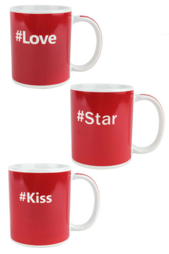 Hashtag Drinks Mug #Love #Star #Kiss Coffee Mug