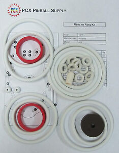Details about 1977 Williams Rancho Pinball Machine Rubber Ring Kit