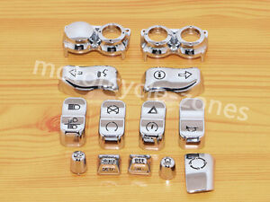 CHROME-HAND-CONTROL-SWITCH-CAPS-BUTTON-KIT-FOR-HARLEY-DAVIDSON-TOURING-2014-2018