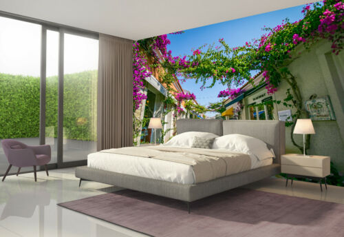 3D Small Town Flowers Landscape Self-adhesive Living Room Wall Murals Wallpaper
