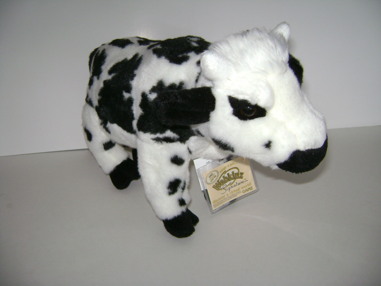 Webkinz Signature Normande Cow WKS1032 by GANZ  PLUSH STUFFED TOY NEW With CODE
