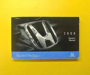 accord sedan 08 2008 honda owners owner s manual ebay rh ebay com 2008 honda accord owners manual pdf honda accord owners manual 2005