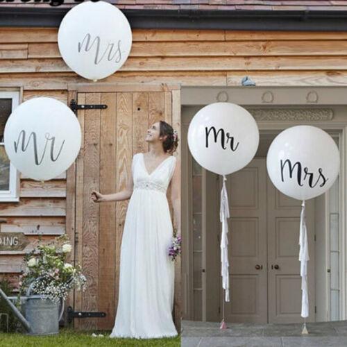 36inch Print Mr/&Mrs Latex Balloons Wedding Day Event Air Globos Supplies JH  NMU
