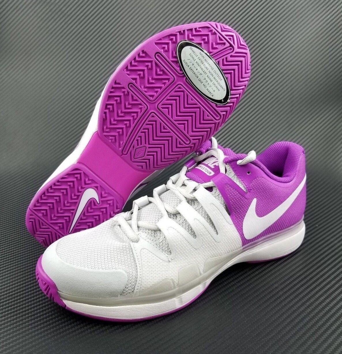 Women's Nike Zoom Vapor 9.5 Tour 631475 003 Tennis Shoes Purple SIZE 9 $160