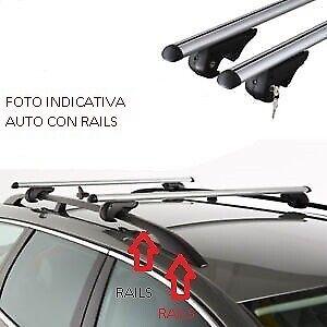 BARRE PORTATUTTO PORTAPACCHI FORD FOCUS SW 2004/>2011 ALLUMINIO RAILS BASSO TETTO