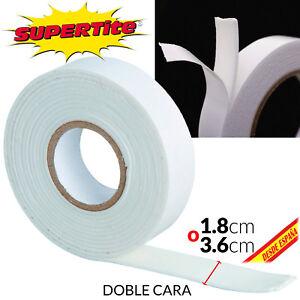 ROLLO CINTA ADHESIVA CON ESPONJA DOBLE CARA CELO AMBOS LADOS 3 a 5m 1.8 o 3.6mm xPfZ4nds-07184512-976093334