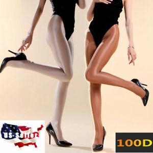 9296fff9b Image is loading 100D-Glossy-Super-Shiny-Pantyhose-Cheerleader-Hooters- Dancer-