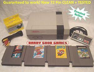 Nintendo NES Console System Bundle REFURBISHED Game lot Super Mario 1 2 3 TMNT