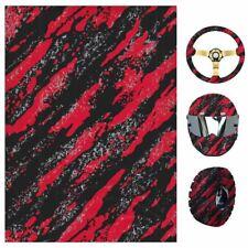 05x1m Water Transfer Print Film Hydrographic Black Marble Camo Dip Hydro Red Pr