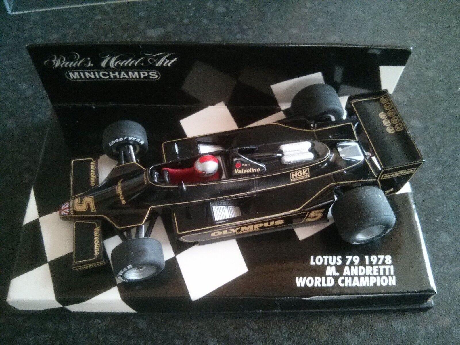 MINICHAMPS 430 780006 1978 LOTUS F1 79-Mario ANDRETTI World Champion