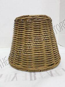 1 Pottery Barn Woven Wicker Kitchen Bath Track Light Lamp sconce SHADE nautical