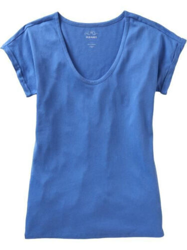 OLD NAVY ROLLED CUFF JERSEY TEE SHIRT BLUE