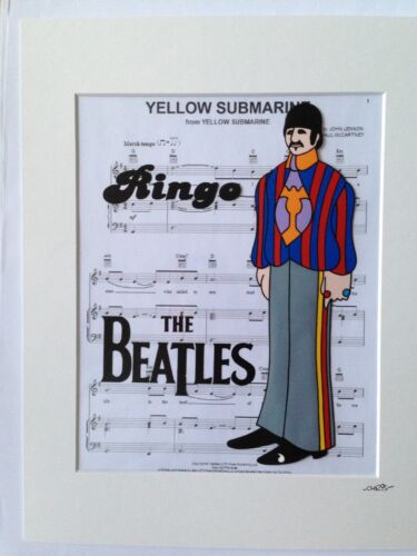 Ringo Starr Hand Drawn /& Hand Painted Cel The Beatles Yellow Submarine