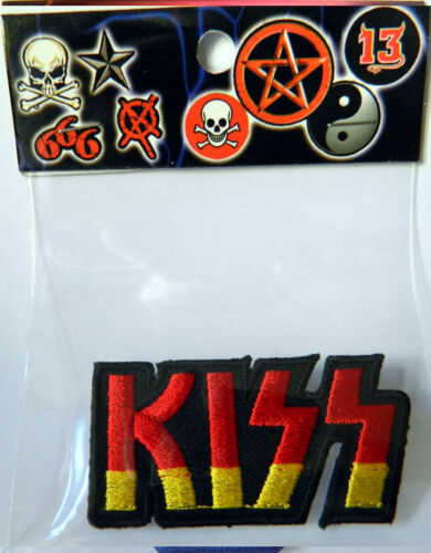 Kiss music band embroidered iron sew on  patch 6cm x 3cm