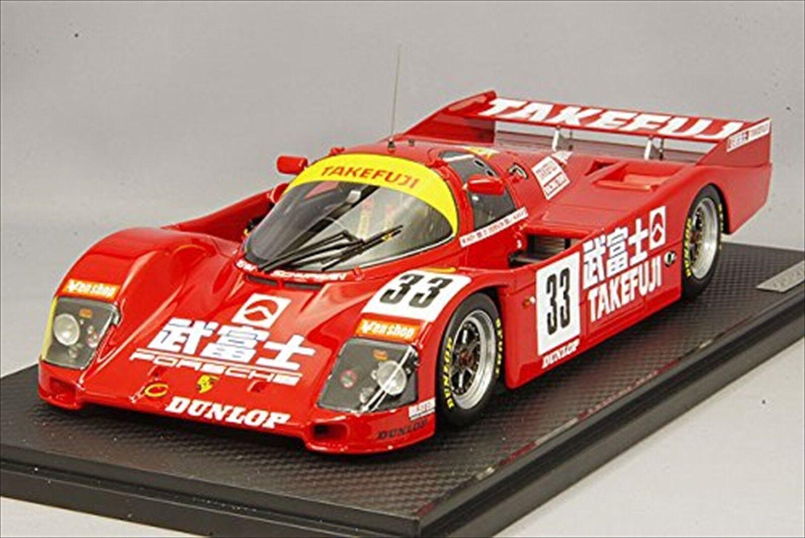 Ignition Model 1 18 Takefuji PORSCHE 962 C 1989 LE MANS 24 H  33 IG1205 Rouge Nouveau