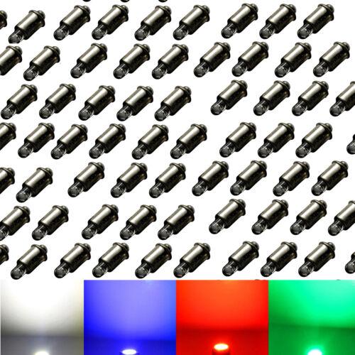 100x LED MS4 E5,5-12V 19V für Märklin Glühlampen Modellbahn rot kaltweiß
