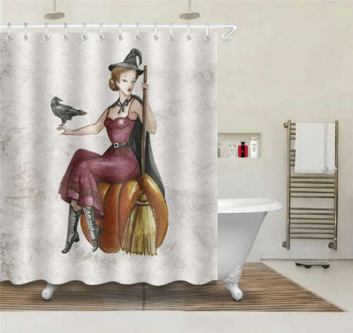 Details about  /Great Witch Waterproof Bathroom Polyester Shower Curtain Liner Water Resistant