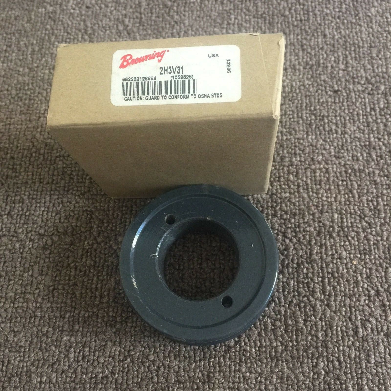 Uses H Bushing Cast Iron Browning 1H3V31 Split Taper Sheave 3V Belt 1 Groove