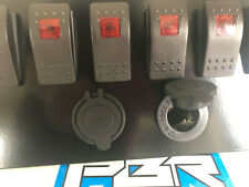 Honda Pioneer 700 Plate w// 6 RED switches 1 Power Acc /& 1 USB Port KIT