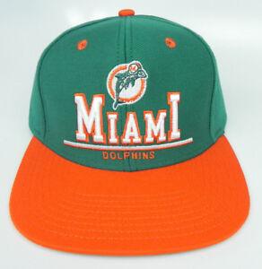 MIAMI DOLPHINS NFL VINTAGE STYLE SNAPBACK RETRO FLAT BILL 2-TONE CAP ... ee145abb9f5