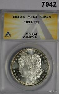 1883 CC MORGAN SILVER DOLLAR ANACS CERTIFIED MS64 CAMEO PL! WOW!! #7942