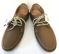M&s Marks And Spencer Men Brown Leather Airflex Lace Up Casual Shoes Sz 7