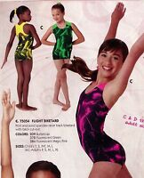 Shorty Unitard Black Lightning Print Ch/ladies Florescent Colors Gymnastics