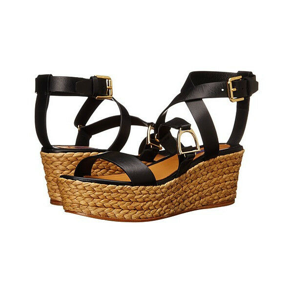 RALPH LAUREN Collection Logan Espadrille compensées sandale US 9 M 39 NEW in Box 495