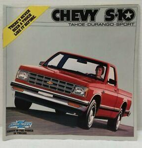1982 Chevrolet S 10 Pickup Truck Sales Brochure Original 82 Chevy S10 Oem Ebay