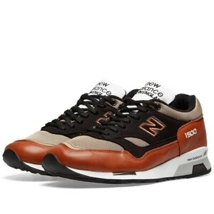 Dettagli su New Balance M1500TBT Made in England Tan & Black Scarpe