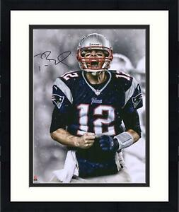 "Framed Tom Brady New England Patriots Autographed 16"" x 20"" Screaming Photograph"