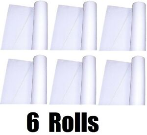 """(6) TableMate FL50-WH 36"""" x 50' Roll White Textured Fabric Aisle Floor Runner"""