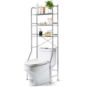 3 Tier Over The Toilet Storage Rack Durable Space Saver Organizer Shelf SortWise