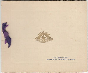 image is loading ww2 australian imperial forces 10th battalion greetings christmas