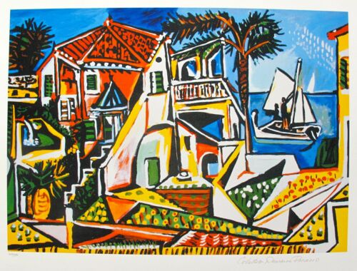 Pablo Picasso MEDITERRANEAN LANDSCAPE Estate Signed Limited Edition Art Giclee