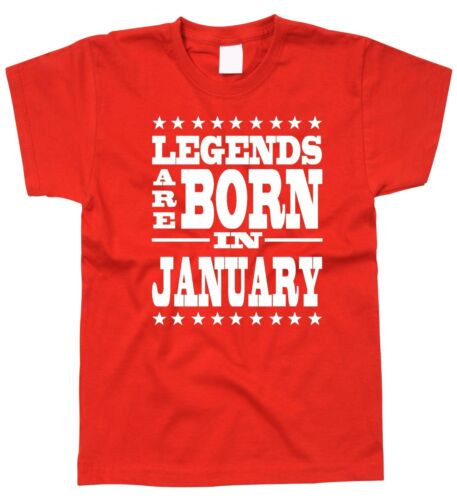 Kids Children/'s Birthday T-Shirt Legends January Great Gift Idea All Ages 2-15