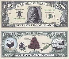 100 Rhode Island RI Patriotic Novelty Money Bills Lot