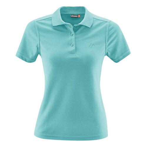 Maier Sports Ulrike Polo Shirt Damen blue radiance 2019 Kurzarmshirt blau