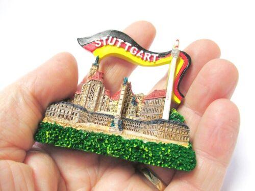 Stuttgart Schlossplatz 3D Poly Fridge Magnet Souvenir Germany