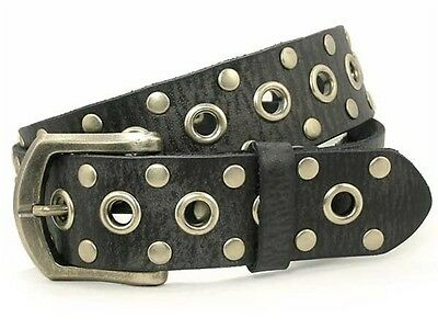 Snap On Oil Tanned Studded Premium Genuine Leather Belt
