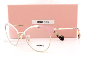 81f638c902 Brand New Miu Miu Eyeglass Frames MU 50P 50PV USQ PINK GOLD For ...