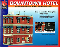 N Scale Walthers Life-like 433-7482 Downtown Hotel Building Kit
