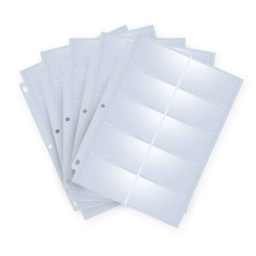 30 Heavyweight Business Card Holder Card Sleeve Pages  3.5 x 2/'/' Acid Free